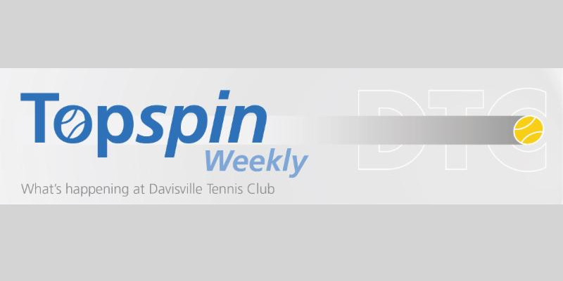 Topspin Newsletter for May 1, 2018